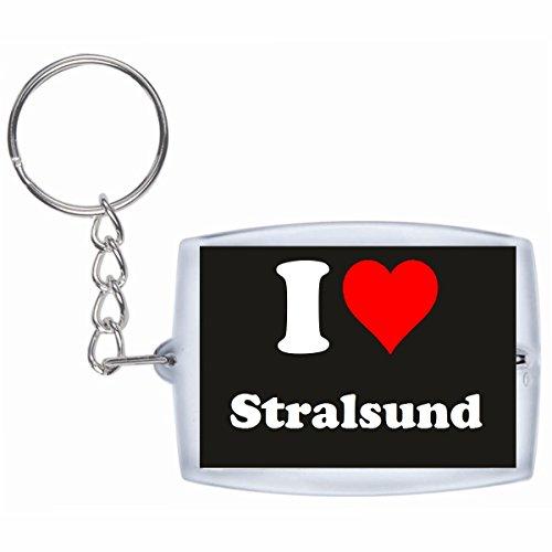 """Exklusive Geschenkidee: Schlüsselanhänger """"I Love Stralsund"""" in Schwarz, eine tolle Geschenkidee die von Herzen kommt - Rucksackanhänger- Weihnachts Geschenktipp"""
